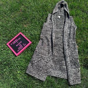 FOREVER 21 long sleeveless open knit cardigan